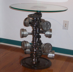 Auto Inspired Tables For Sale   Furniture Made From Car Parts | Smuteku0027s  Metal Art